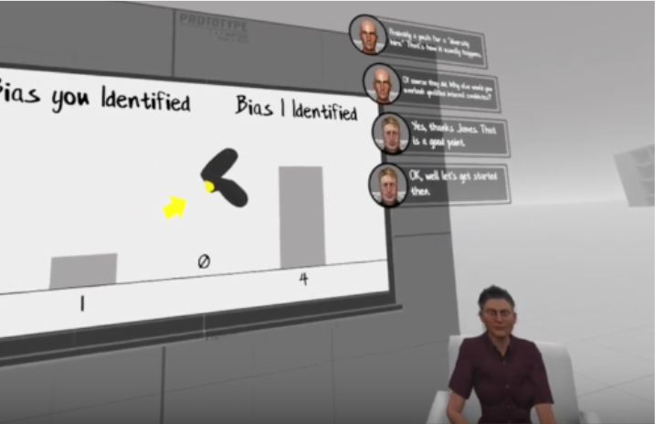 Virtual Reality Diversity Inclusion Training Data and Feedback